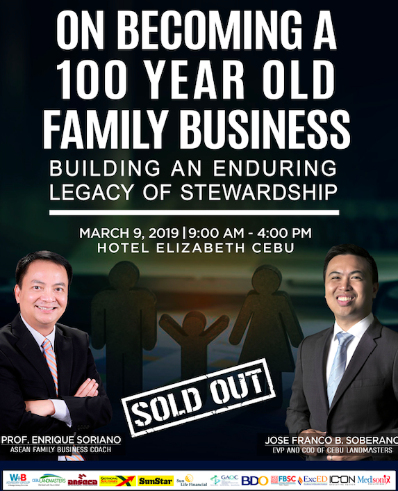 On Becoming a 100 Year Old Family Business (Cebu Leg)